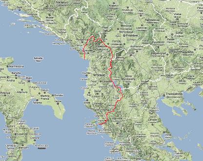 albania-mappa