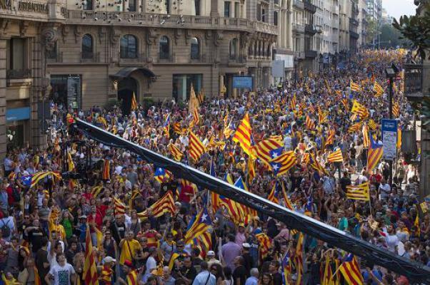Catalogna-Barcellona-Manifestazione