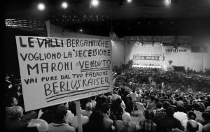 Milano 12 Febbraio 1995, Congresso Federale della Lega Nord. Con