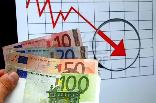 Crisi economica, borse in calo, crisi dell'euro
