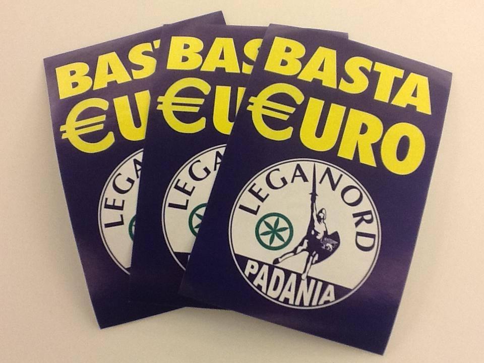 basta euro manifesti