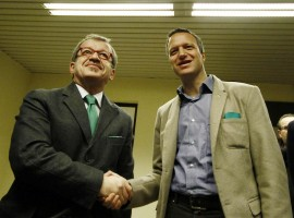 Roberto Maroni lancia la candidatura del sindaco uscente di Verona, Flavio Tosi