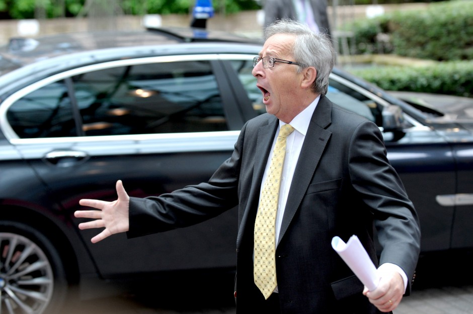 Luxembourg's Prime Minister Juncker arrives on the second day of a European Union leaders summit in Brussels