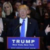 US Republican candidate Donald Trump speaks about five-state primary voting results in New York, New York