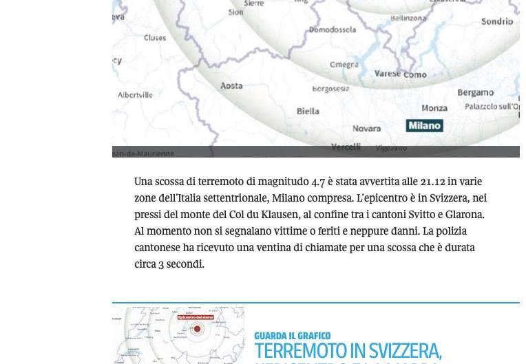 corriere terremoto svizzera