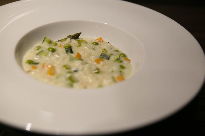 Il nuovo risotto ideato dall'ex chef di casa Windsor, Enrico Derflingher, e dedicato alla Royal Baby Girl, 3 maggio 2015. ANSA/ UFFICIO STAMPA VILLA LARIO EURO-TOQUES ++HO - NO SALES EDITORIAL USE ONLY++