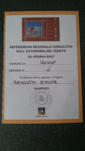 ricevuta referendum Ettore