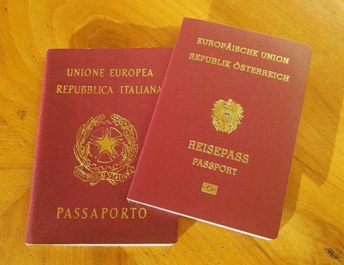 Bolzano - Passaporto italiano ed austriaco.