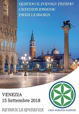 Lega Padania Nazione | Venezia 15 settembre 2018