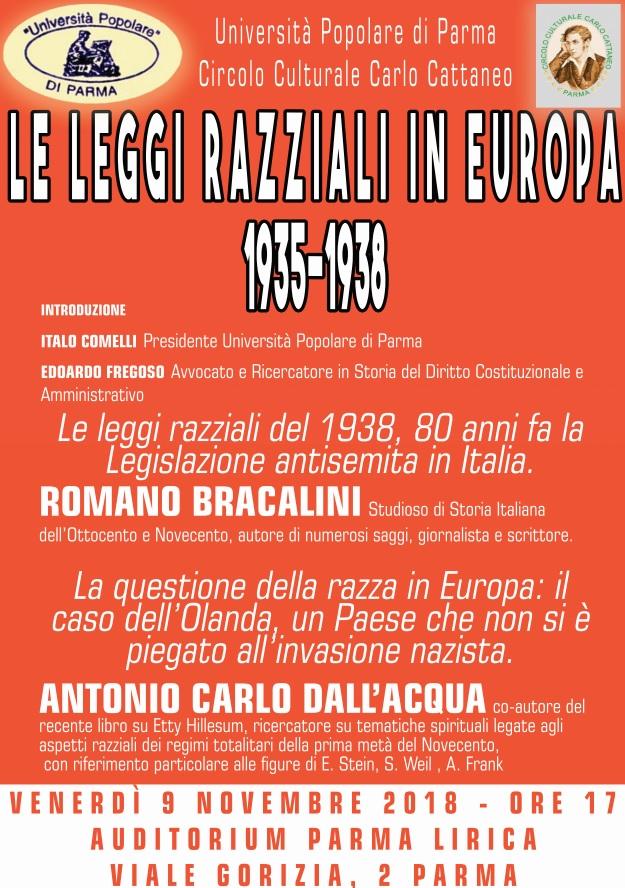 Le leggi razziali in europa 1935 1938 convegno a parma for Chi fa le leggi in italia