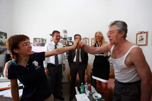 MILANO - 12/07/2010 - VIA BELLERIO - SEDE LEGA NORD - INCONTRO SULL SANITA - FRANCESCA MARTINI - FOTO DAVIDE SALERNO/NEWPRESS